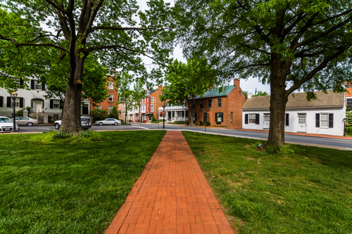 long red brick road, showing community in baltimore